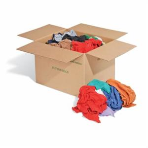 colored cotton rags 25lb case - Box Of Rags