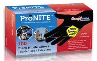 Extra Large Pronite Black Nitrile Gloves 631 524 5444
